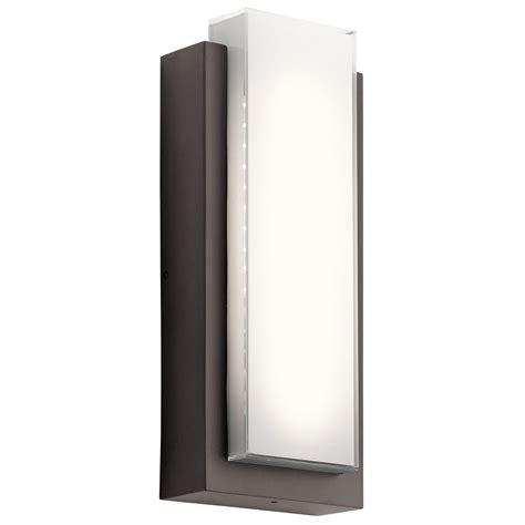 modern outside wall lights kichler 49557azled dahlia modern architectural bronze led