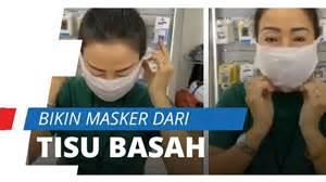 viral video membuat masker antiseptik  tisu basah