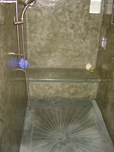 bathroom floor base cement shower the american edge inc concrete showers