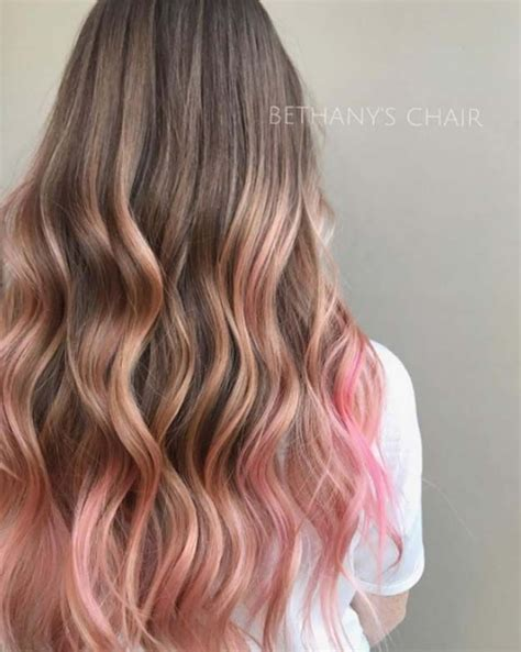 Pink Hair Brown Shadow Root Chocolate Strawberry Ombre Of Chocolate Strawberry Hair Color 43 Balayage High Lights To Copy Today Colours Hair Pink Hair Ombre Hair