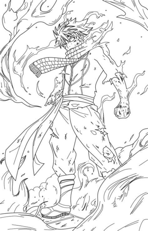 fairy tail natsu dragneel coloring pages coloringstar