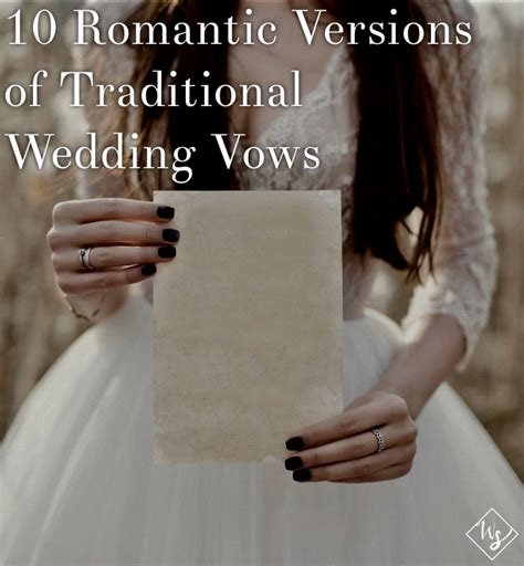 Wedding Vows In Sickness by 10 Versions Of Traditional Wedding Vows