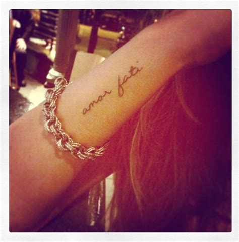 amor fati tattoo my fati is a phrase loosely
