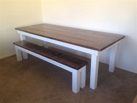 white stain on wood table custom planked top farmhouse table with walnut stain