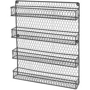 Wire Spice Rack Door Mount by Wall Mount Spice Rack Shelf Pantry Door Cabinet Storage