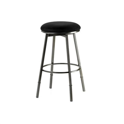 pewter bar stools hillsdale sanders 24 quot 30 quot adjustable backless bar stool in