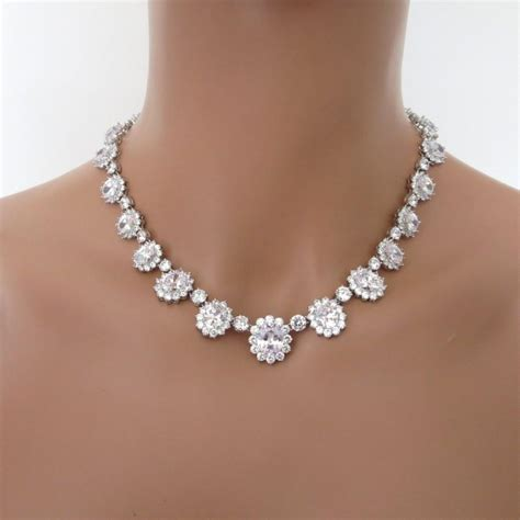cz jewelry set bridal necklace set wedding