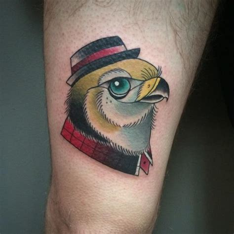 new eagle thigh hat tattoo by pat whiting