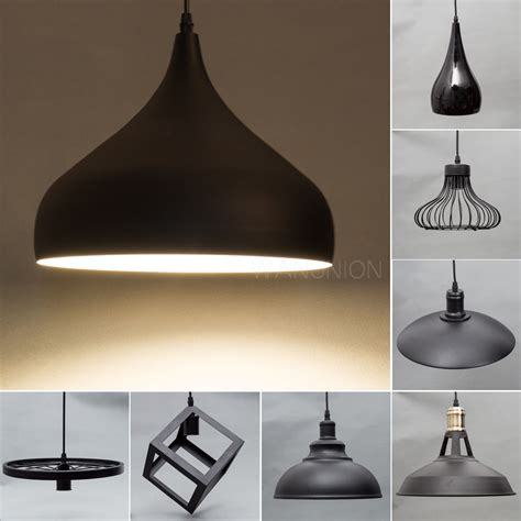 Black Ceiling Light Fixtures Black Modern Metal Pendant Ceiling L Chandelier Light Lighting Fixtures Shade Ebay