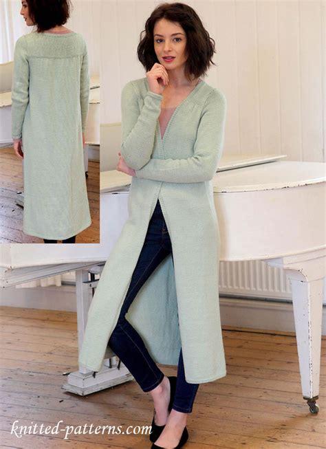 knitting pattern long line cardigan longline cardigan