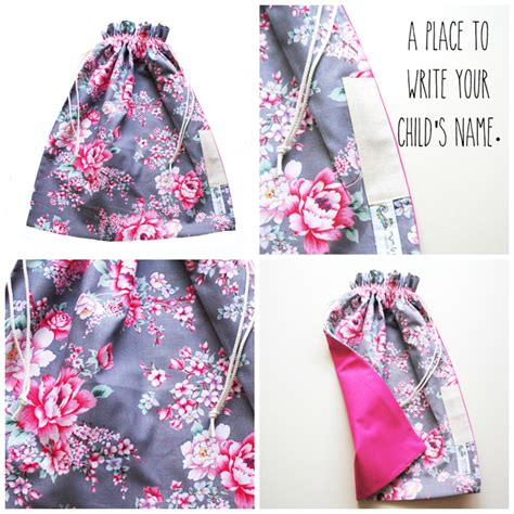 library bag pattern drawstring library bag drawstring pink floral flowers on grey