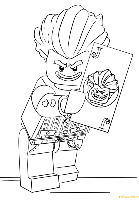 the lego batman movie arkham asylum joker coloring page