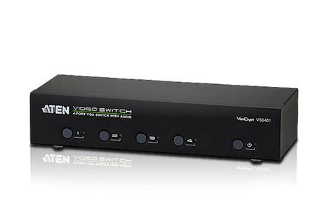 Dijamin 4 Load Audio Switch 4 port vga audio switch vs0401 aten switches