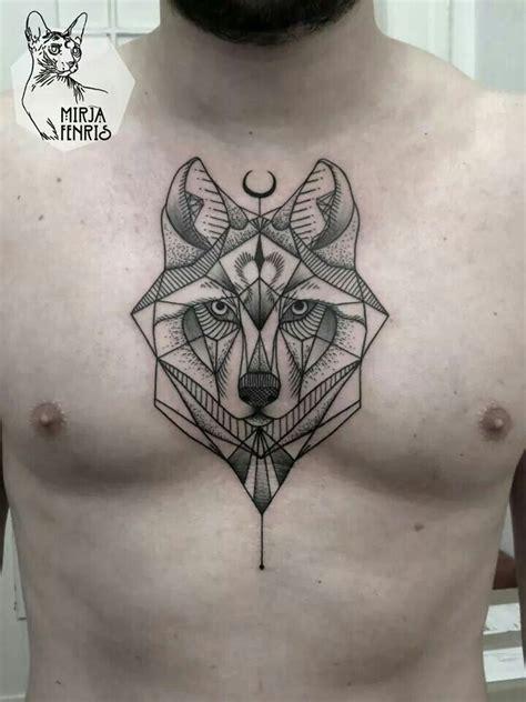 tatuajes en el pubis hombres lobo geom 233 trico ideias tattoo pinterest