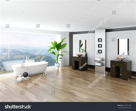 modern bathroom interior landscape iroonie com modern bathroom interior with white bathtub against huge
