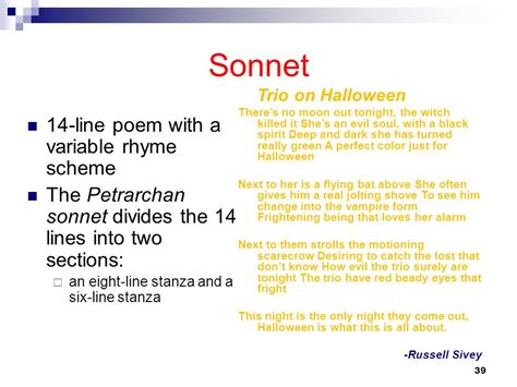 sonnet sections understanding poetry ppt video online download