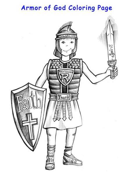 armor of god coloring pages armor of god coloring page discover god 4