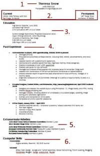 how to write a basic easy resume right out of college it