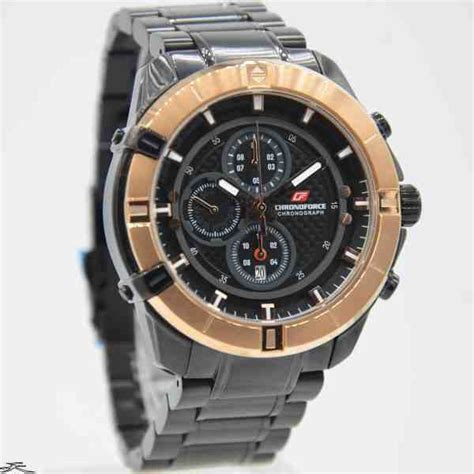 Chronoforce Black White Original jual jam tangan pria chronoforce 5251mbr black rosegold