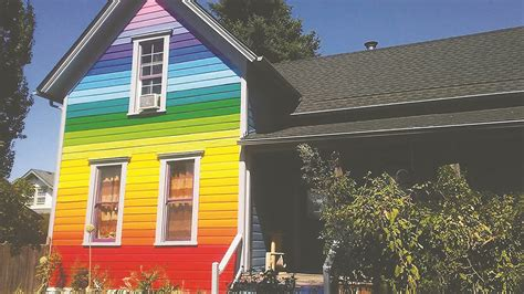 rainbow house for rainbow house owners paint job transcends surface appeal lebanon local