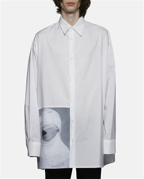 Raf Unveils Clothing Line by Raf Simons Oversized White Gauze Shirt In White For Lyst