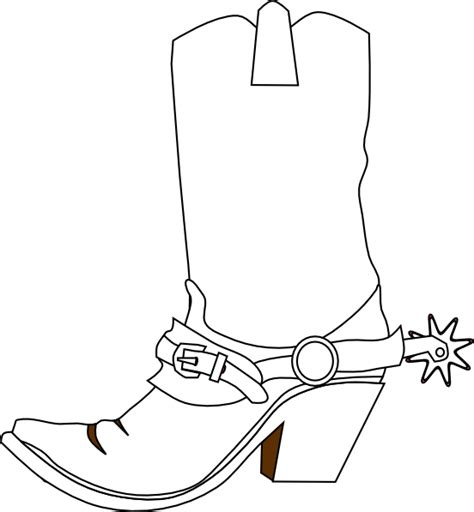 cowboy boot template cowboy boot clip at clker vector clip