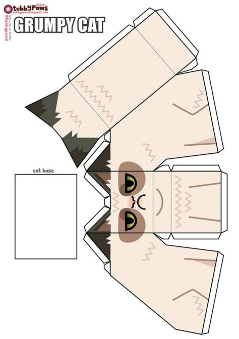 Cat Paper Craft - grumpy cat print outs cut outs crafts