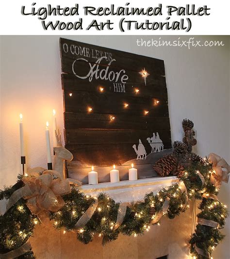 lighted reclaimed lumber christmas sign tutorial the