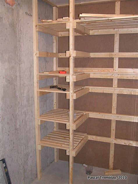 cold storage unit plan food storage shelves and storage bins