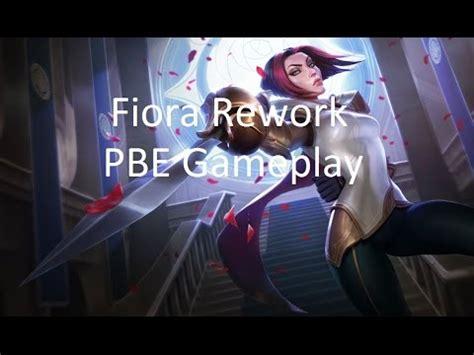 fiora mid league of legends pbe 4 fiora rework mid