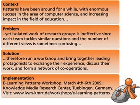 pattern learning definition e learning patterns workshop at kmrc tuebingen march 4