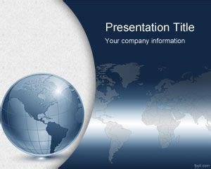 Free World Map Powerpoint Template Globe Powerpoint Template