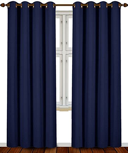 navy panel curtains blackout room darkening curtains window panel drapes