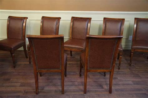 solid walnut dining solid walnut leather upholstered regency style dining