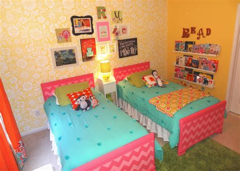 share room readers favorite bright and fun shared girls room