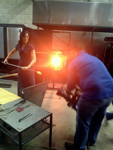 ben tullman glass blowing ignite glass studios on wgn midday news molise pr chicago