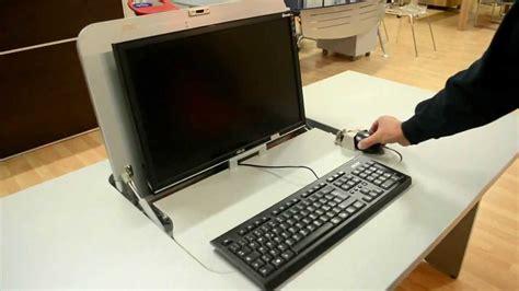 mobile porta computer a scomparsa scrivania porta pc o notebook a scomparsa