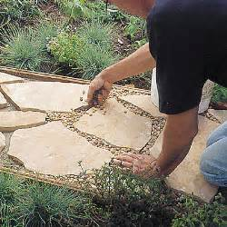step 6 how to install a flagstone path sunset