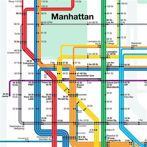 subway map of manhattan with streets maps update 14882105 manhattan tourist map pdf new