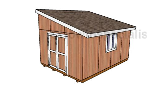 Shed Plans 12 X 16 by 12x16 Lean To Shed Plans Howtospecialist How To Build