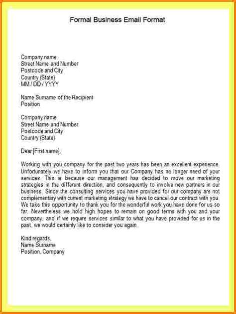 Formal Letter The Name 6 Formal Company Letter Template Financial Statement Form