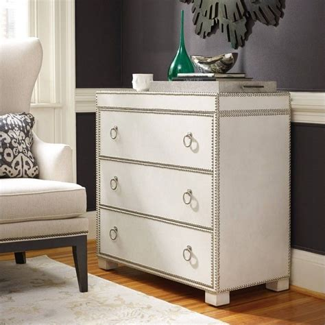 hooker furniture living room accents 3 drawer antique hooker furniture 3 drawer nailhead leather accent chest in