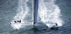 boat to hawaii from los angeles hydroptere super yacht can clock 60 miles an hour daily