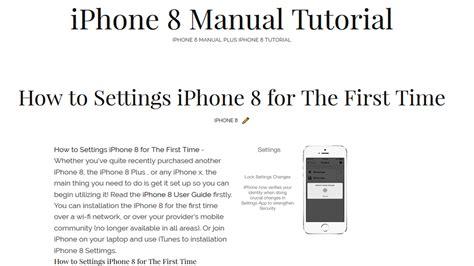iphone 8 manual smartphone manual site