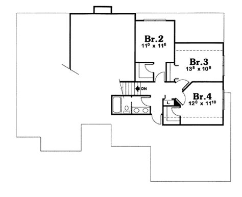 Traditional Style House Plan 4 Beds 2 5 Baths 2600 Sq Ft 2600 Sq Ft House Plans