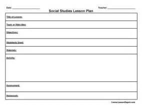 lesson plan templates lesson plans and social studies