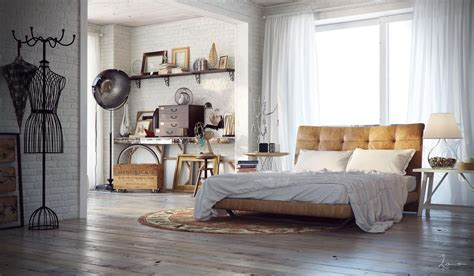 industrial bedrooms with detail