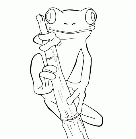Coloring Pages A Tree Frog Hd Printable Coloring Pages Colouring Pages Tree 2