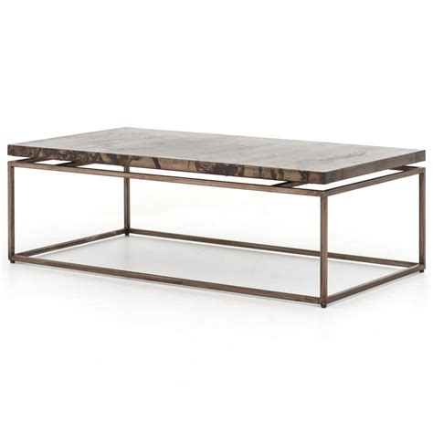 rollins industrial loft bronze iron coffee table kathy