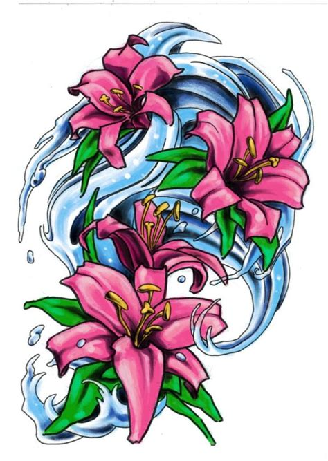 water lily tattoo designs 20 tattoos tattoofanblog